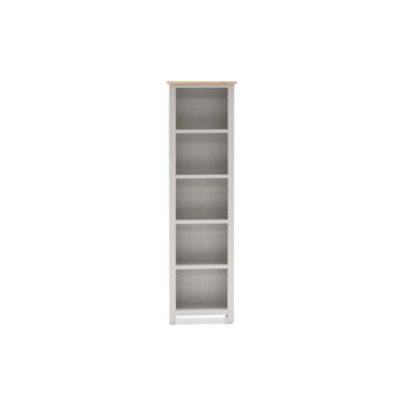 Glendale Grey Oak Slim Bookcase