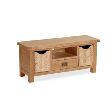 Darwin Large TV Unit with Baskets