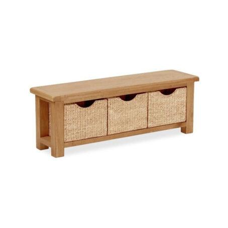 Darwin Bench with Baskets