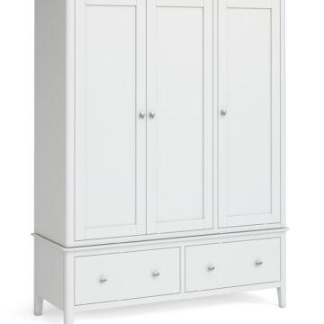 Fern White Triple Wardrobe