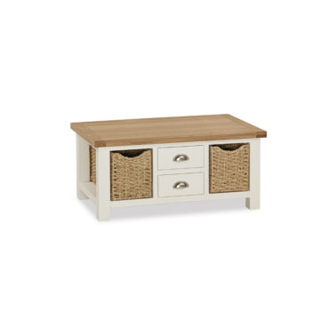 Finsbury Large Coffee Table With Baskets