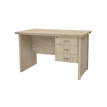 Oscar Oak 3 Drawered Desk