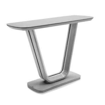 Lazio Glass Console Table Grey