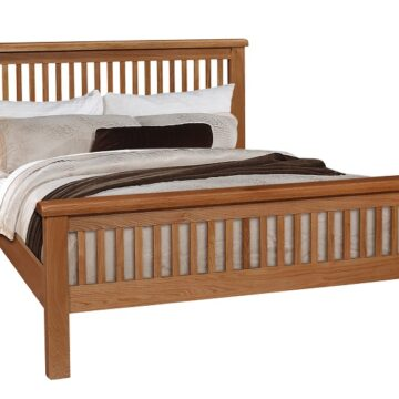 Westbury Slatted Oak Bed
