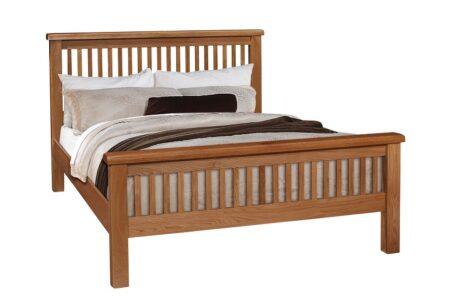 Westbury Slatted Oak Bed