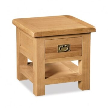 Darwin Lamp Table with Drawer