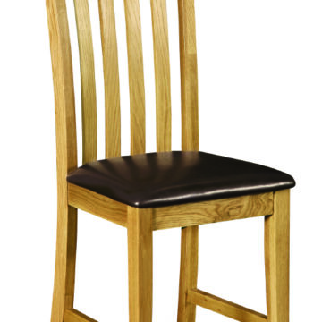 Darwin PU Seat Slat Back Dining Chair