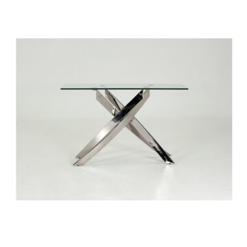 Karl Glass Steel Console Table
