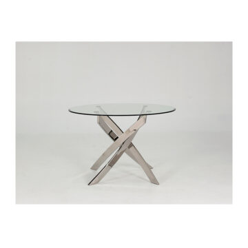 Karl Glass Round Dining Table