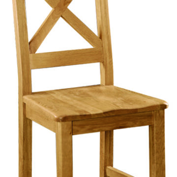 Darwin Solid Seat Cross Back Dining Chair