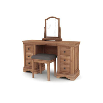 Vermont Dressing Table with Vanity Mirror and Stool
