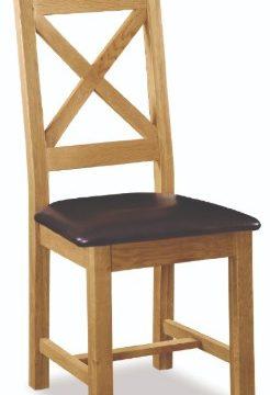 Darwin PU Seat Crossback Dining Chair