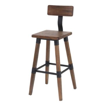 Barrow rustic bar chair angled