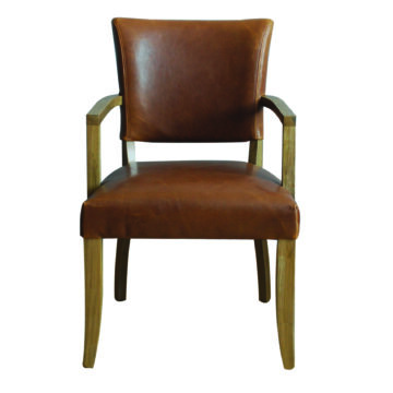 Bonham armchair in tan brown