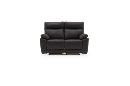 Carmine Black 2 Seater Recliner Sofa