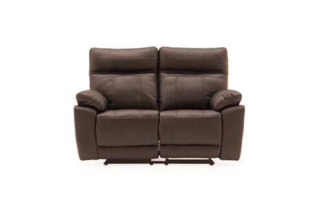 Carmine 2 Seater Reclining Sofa - Brown