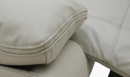 Carmine 2 Seater grey Reclining Sofa close up