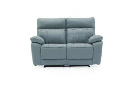 Carmine 2 Seater Reclining Sofa Blue