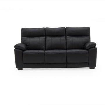 Carmine 3 Seater Fixed Sofa - Black