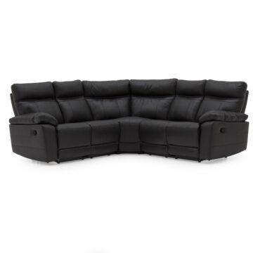 Carmine Corner Sofa - Black