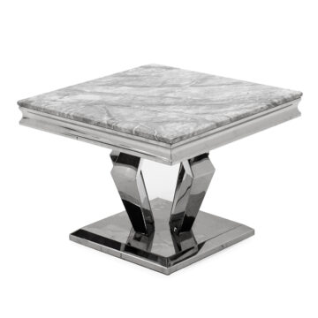 Creole Marble Lamp Table angled