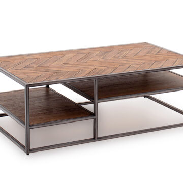 Ethan Coffee Table - Light Brown - Angled