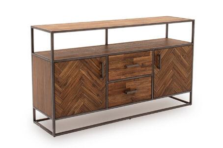 Ethan Light Brown Sideboard - Large - Angled