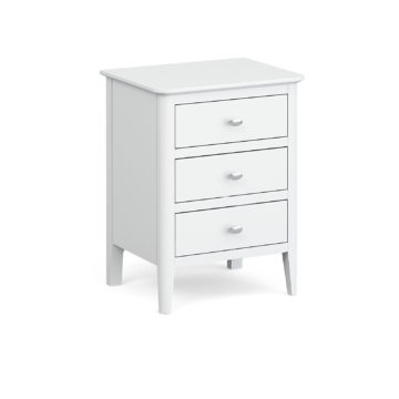 Fern White bedside table