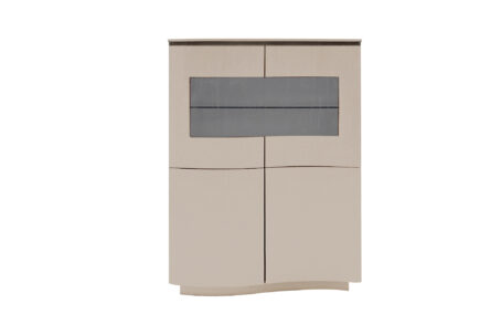 Lazio Display Cabinet - Cappucino