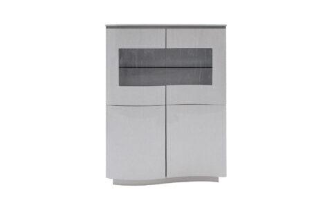 Lazio Display Cabinet Grey
