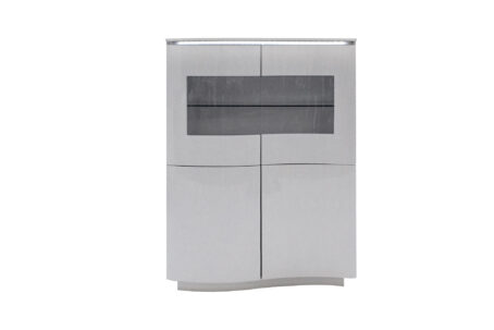 Lazio Display Cabinet Grey with LED light on