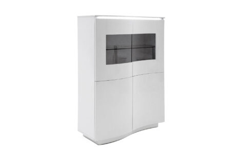 Lazio White Display Cabinet with LED light on