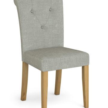 Rouen Grey Fabric Dining Chair