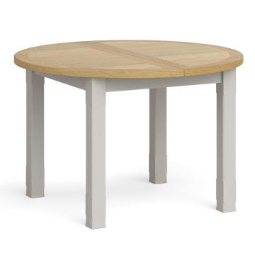 Rouen Round Extension Table closed