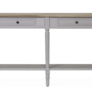 Coventry Grey Console Table - 2 drawer