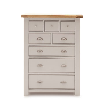 Swansea Grey Tall Chest - 8 Drawers front view