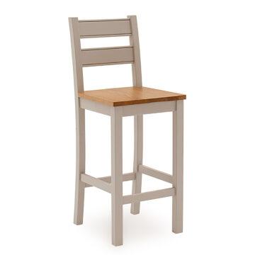 Swansea Grey Oak Bar Chair