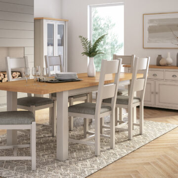 Swansea Dining Room with Grey Oak Extending Table and Chairs