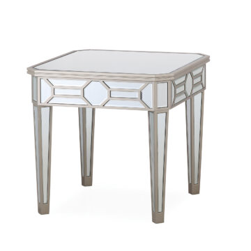 Versaille Silver Mirrored Lamp Table