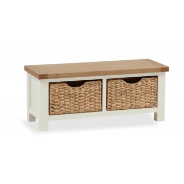 Finsbury Small bench with baskets