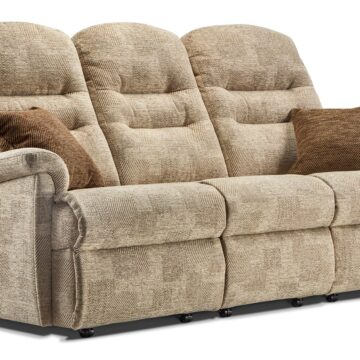 Keswick Standard Fixed Three Seater Sofa in Beige