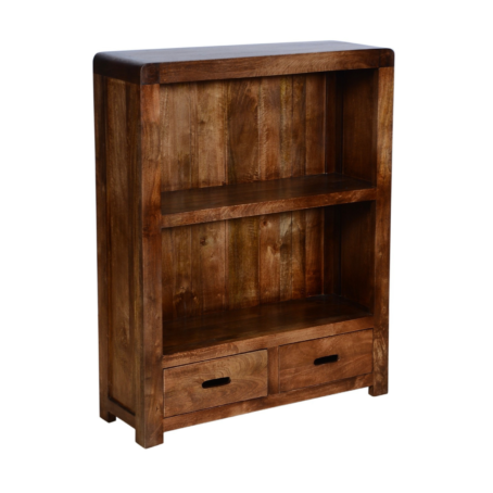 Delhi Low Bookcase with Drawers