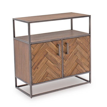 Light Brown Ethan Sideboard - Small - Angled