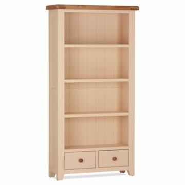 Amelie Tall Bookcase 2 Drawers