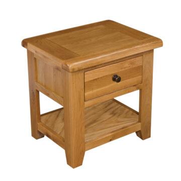 Westbury Drawered Oak Lamp Table