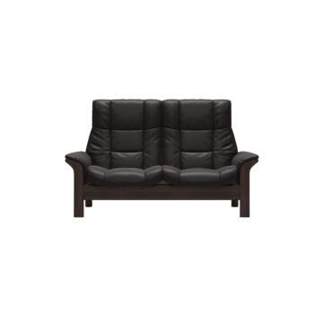 Buckingham 2 Seater Sofa Dark Brown Leather