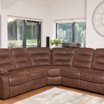 Nashville Brown Corner Sofa