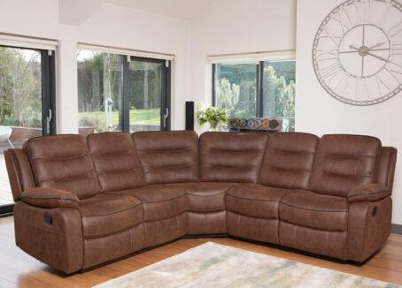 Nashville Brown Corner Sofa